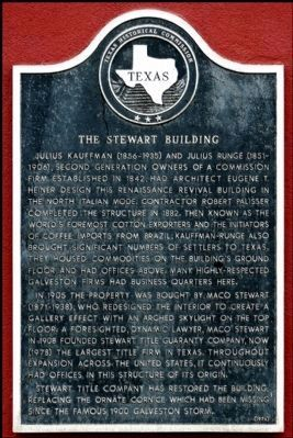 The Stewart Building Marker image. Click for full size.