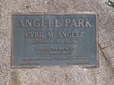 Angell Park Marker image. Click for full size.