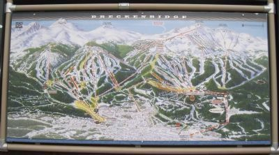 A map of the Breckenridge, Colorado ski slopes. image. Click for full size.