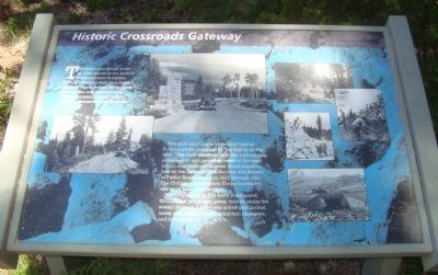 Historic Crossroads Gateway Marker Photo, Click for full size