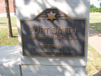 Fort Smith National Historic Site Marker image. Click for full size.