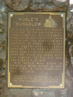 Noble�s Bungalow Marker Photo, Click for full size