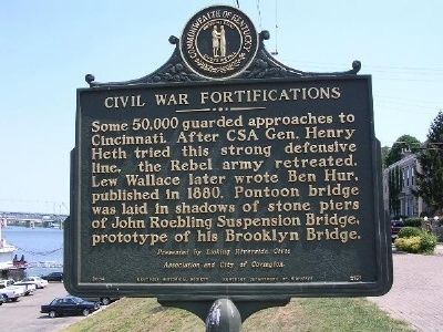 Civil War Fortifications Marker image. Click for full size.