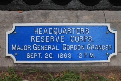 Headquarters Reserve Corps Marker Photo, Click for full size