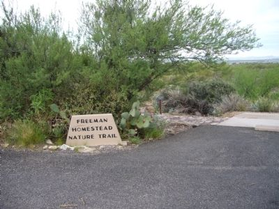 Trailhead for the Desert Homes Marker Photo, Click for full size