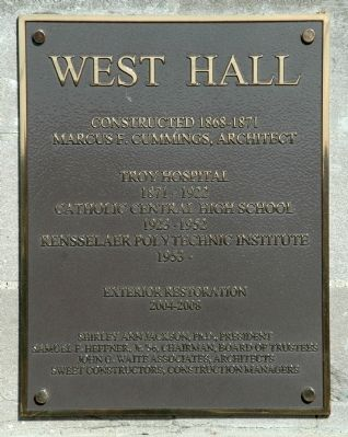 West Hall Marker Photo, Click for full size