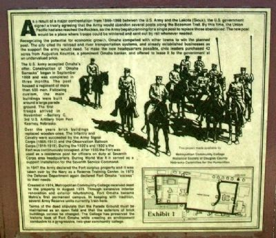 History of Fort Omaha Marker image. Click for full size.
