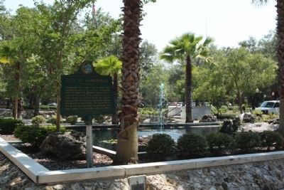 City of Gainesville Marker, at Municipal Bldg., southside plaza Photo, Click for full size