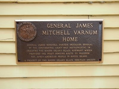 General James Mitchell Varnum Home Marker image. Click for full size.