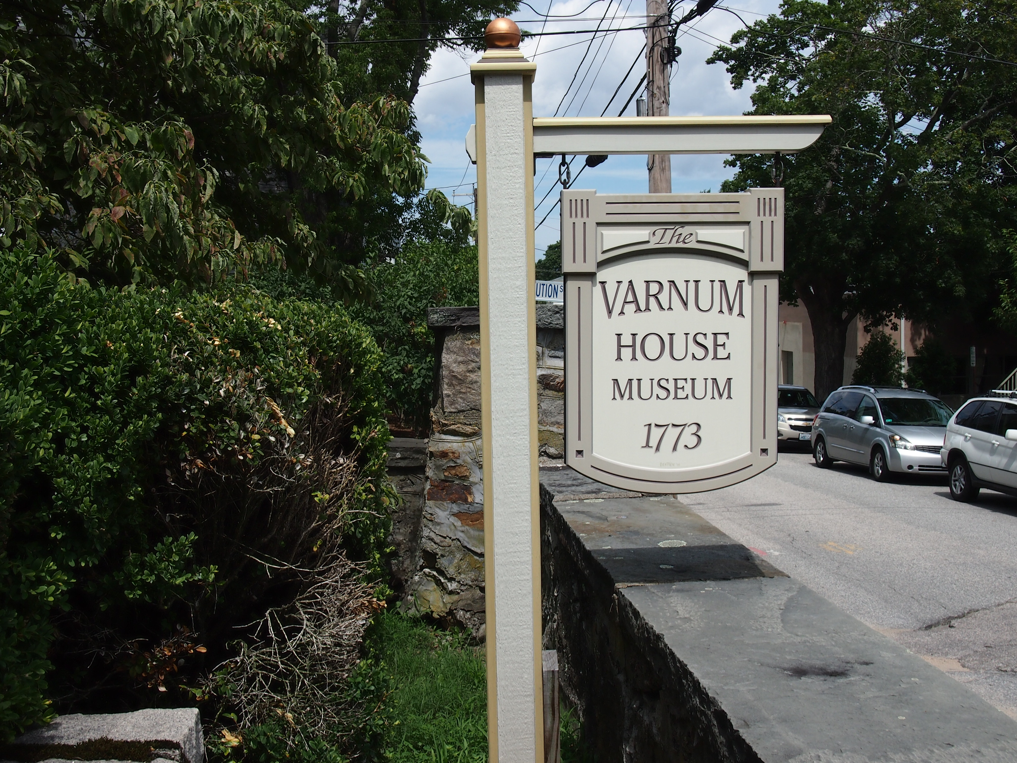 General James Mitchell Varnum Home Sign