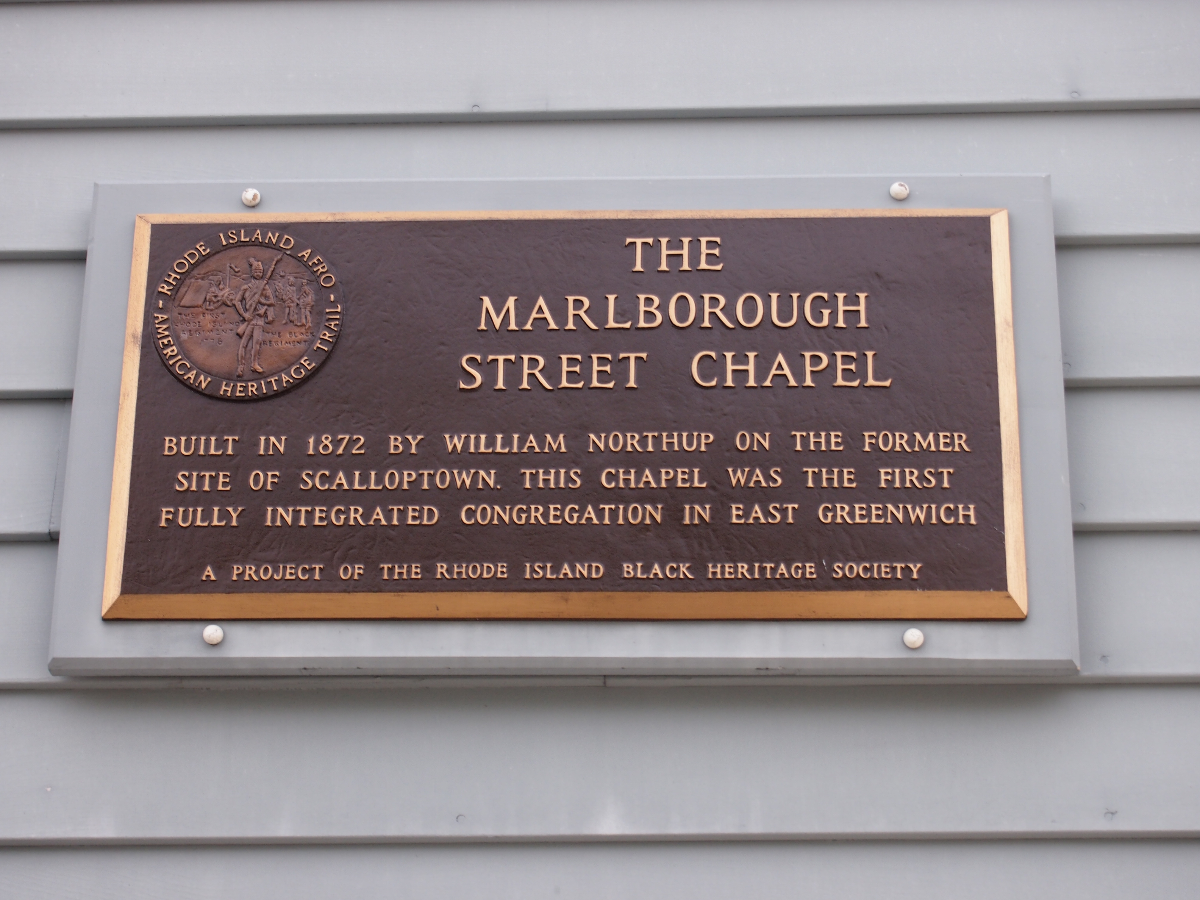 The Marlborough Street Chapel Marker