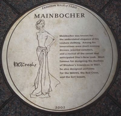 Mainbocher Marker image. Click for full size.