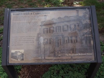The Benjamin Rodman House Marker image. Click for full size.