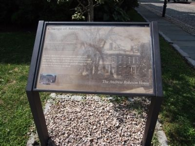 The Andrew Robeson House Marker image. Click for full size.