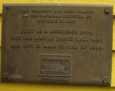 Site of Argyle Dance Hall Marker image. Click for full size.