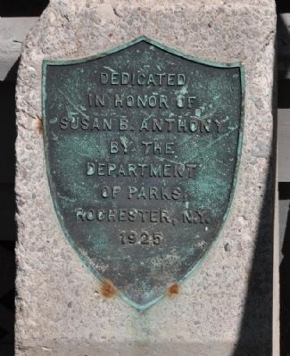 Susan B. Anthony House Dedicatory Marker Photo, Click for full size