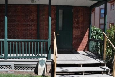 Susan B. Anthony House Dedicatory Marker setting Photo, Click for full size