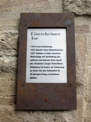 Einersheimer Gate Marker image. Click for full size.