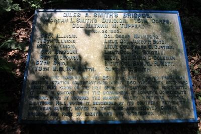Giles A. Smith's Brigade Marker image. Click for full size.