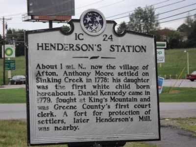 Henderson�s Station Marker image. Click for full size.