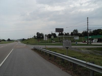 Marker on Andrew Johnson Highway image. Click for full size.