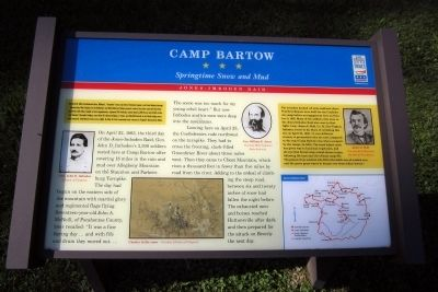 Camp Bartow CWT Marker image. Click for full size.