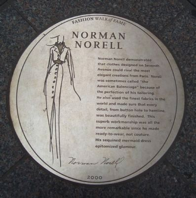 Norman Norell Marker image. Click for full size.