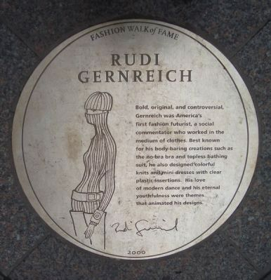 Rudi Gernreich Marker Photo, Click for full size
