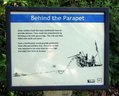 Behind the Parapet Marker image. Click for full size.