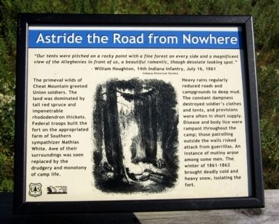 Astride the Road From Nowhere Marker Photo, Click for full size