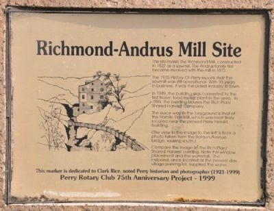Richmond-Andrus Mill Site Marker image. Click for full size.