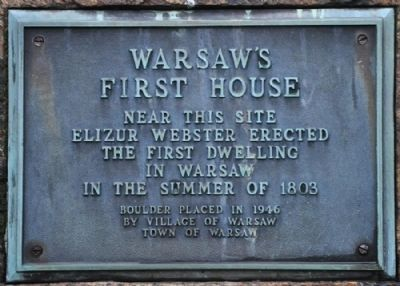 Warsaw's First House Marker image. Click for full size.