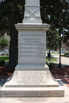 Confederate Monument Marker Photo, Click for full size