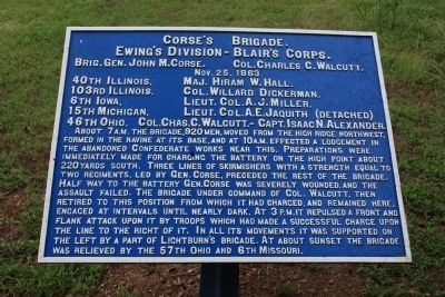 Corse's Brigade Marker Photo, Click for full size