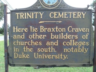 Trinity Cemetery Marker Photo, Click for full size