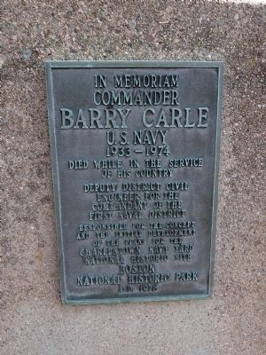 Commander Barry Carle Marker Photo, Click for full size