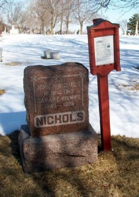 John Wesley Nichols Grave Site and Marker Photo, Click for full size