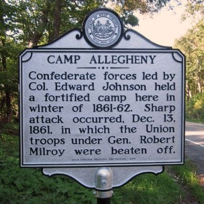 Camp Allegheny (replacement marker) image. Click for full size.