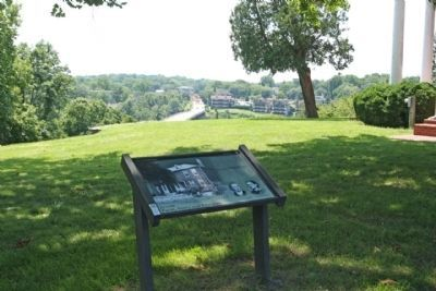 Ferry Hill Marker, overlooks the Potomac River image. Click for full size.
