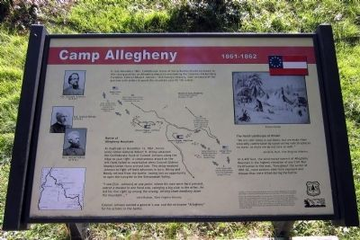 Camp Allegheny Marker image. Click for full size.