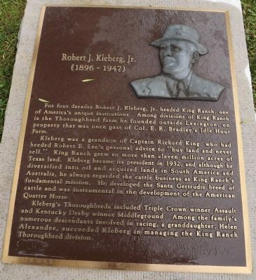 Robert J. Kleberg, Jr. Marker Photo, Click for full size