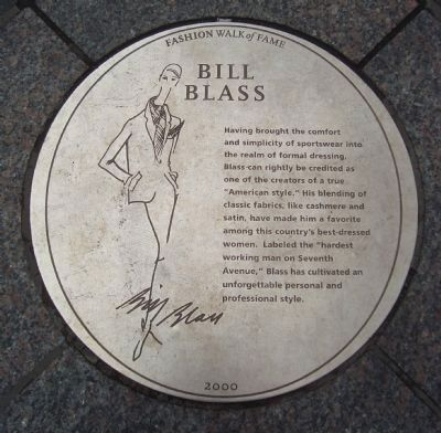 Bill Blass Marker Photo, Click for full size