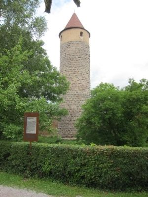 The Owls' Tower and Marker - wide view image. Click for full size.