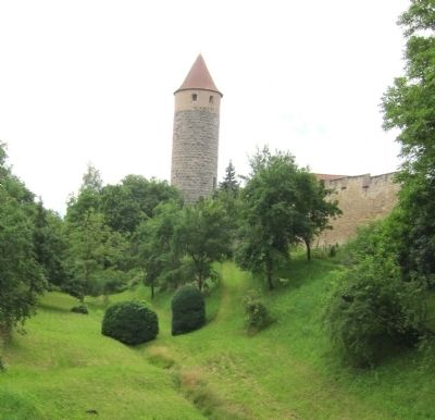 The Owls' Tower, as seen from the Einersheimer Gatehouse image. Click for full size.