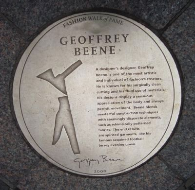 Geoffrey Beene Marker Photo, Click for full size