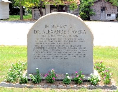 Dr. Alexander Avera Marker image. Click for full size.