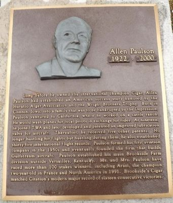 Allen Paulson Marker image. Click for full size.