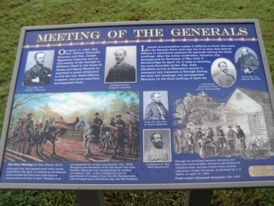 Meeting of the Generals Marker image. Click for full size.