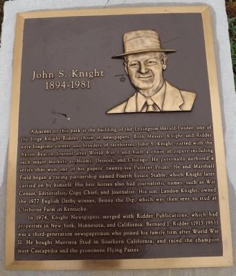 John S. Knight Marker image. Click for full size.