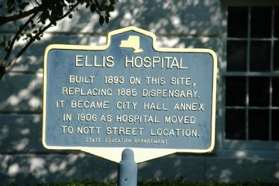 Ellis Hospital Marker Photo, Click for full size